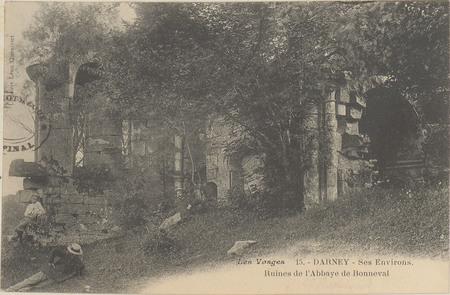 Darney, Ses environs, Ruines de l'Abbaye de Bonneval