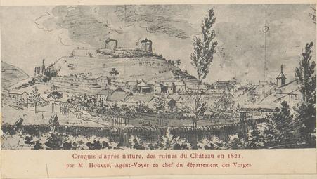 Croquis des ruines du Château [d'Épinal] […]