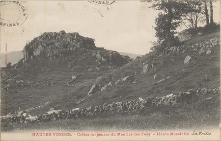 Hautes-Vosges, Crêtes rocheuses du Moutier des Fées, Haute Moselotte