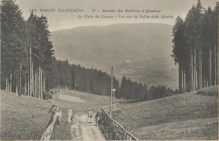 Route du Ballon d'Alsace, Le Plein du Canon, Vue sur la Vallée de la Mosel…