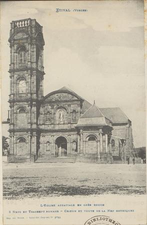 Étival (Vosges), L'Église abbatiale en grès rouge […]
