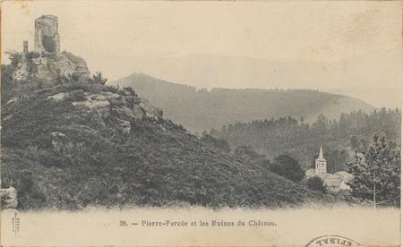 Pierre percée et ruines du Château