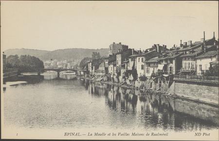 Épinal, La Moselle et les Vieilles maisons de Rualménil