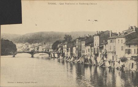 Épinal, Quai Rualménil et faubourg d'Alsace