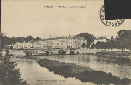 Épinal, Le Pont Sadi-Carnot et Collège