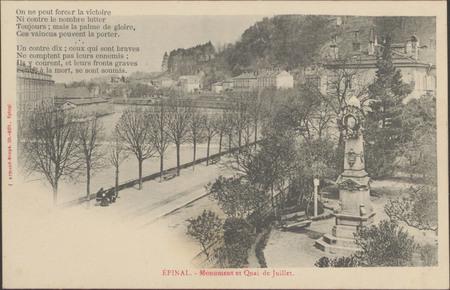 Épinal, Monument et quai de Juillet