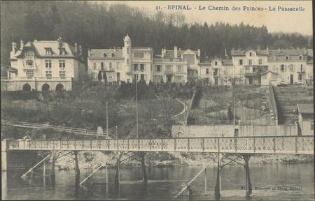 Épinal, Le Chemin des Princes, La Passerelle