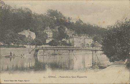 Épinal, Passerelle et quai Dogneville