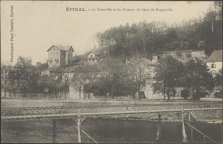 Épinal, La Passerelle et les Coteaux du quai de Dogneville