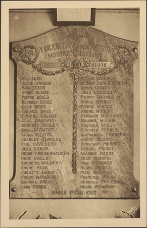 [Épinal, Institution St-Joseph, Plaque commémorative]