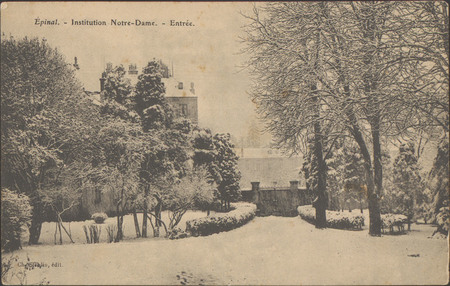Épinal, Institution Notre-Dame, Entrée