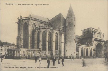 Épinal, Vue d'ensemble de l'Église St-Maurice