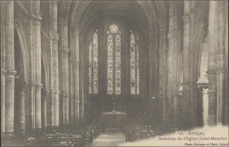 Épinal, Intérieur de l'Église Saint-Maurice