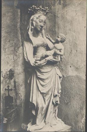 [Épinal, Intérieur de l'Église Saint-Maurice, Statue de la Vierge]