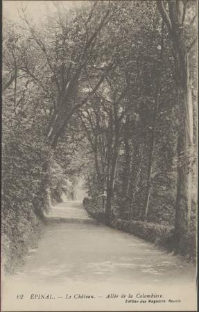 Épinal, Le Château, Allée de la Colombière