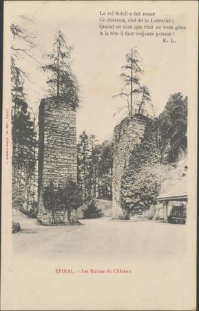 Épinal, Les Ruines du Château