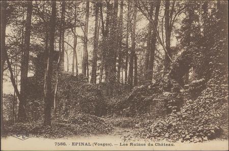 Épinal (Vosges), Les Ruines du Château