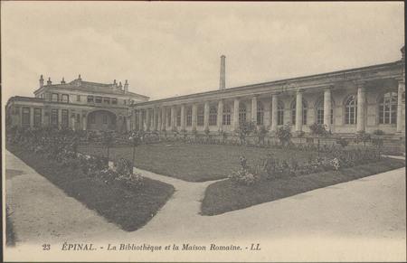 Épinal, La Bibliothèque et la maison romaine
