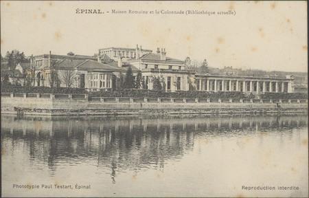 Épinal, Maison romaine et la Colonnade (Bibliothèque actuelle)