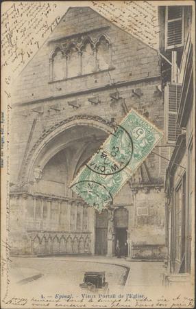 Épinal, Vieux portail de l'Église