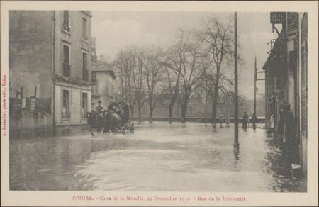 Épinal, Crue de la Moselle, 24 décembre 1919, Rue de la Faïencerie