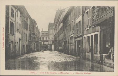 Épinal, Crue de la Moselle, 24 décembre 1919, Rue des Minimes