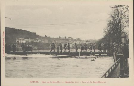 Épinal, Crue de la Moselle, 24 décembre 1919, Pont de la Loge Blanche