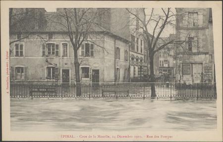 Épinal, Crue de la Moselle, 24 décembre 1919, Rue des Pompes