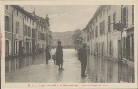 Épinal, Crue de la Moselle, 24 décembre 1919, Rue des Petites-Boucheries