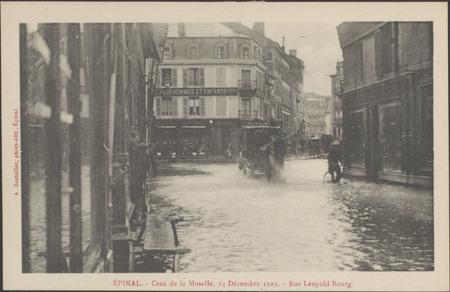 Épinal, Crue de la Moselle, 24 décembre 1919, Rue Léopold-Bourg