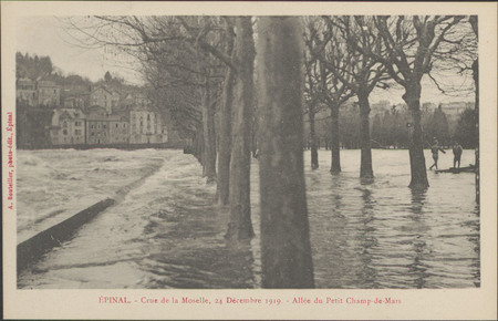 Épinal, Crue de la Moselle, 24 décembre 1919, Allée du Petit Champ de Mars