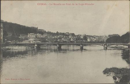 Épinal, La Moselle au pont de la Loge Blanche