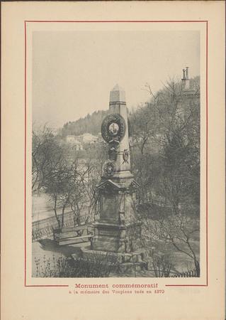 Monument commémoratif à la mémoire des Vosgiens tués en 1870