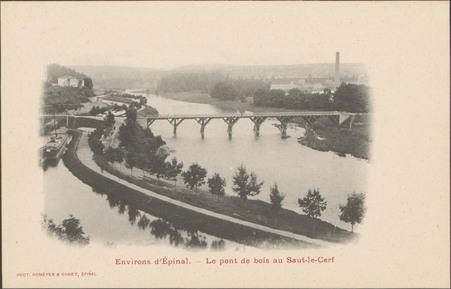 Environs d'Épinal, Le Pont de bois au Saut-le-Cerf