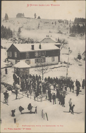 Préparation pour un concours de ski