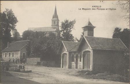 Anould, Le magasin des pompes et de l'Église