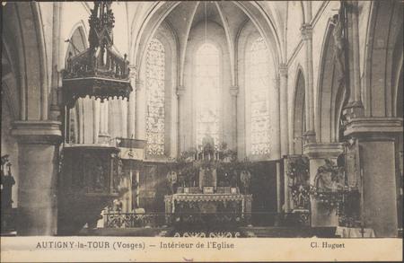 Autigny-le-Tour (Vosges), Intérieur de l'Église