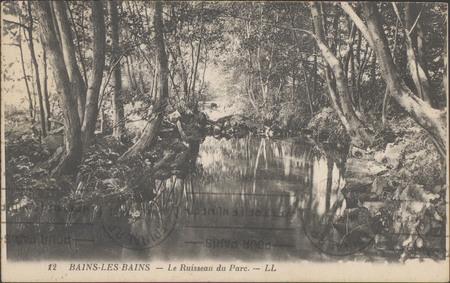 Bains-les-Bains, Le Ruisseaux du Parc