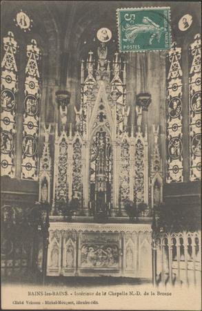 Bains-les-Bains, Intérieur de la chapelle N.-D. de la Brosse