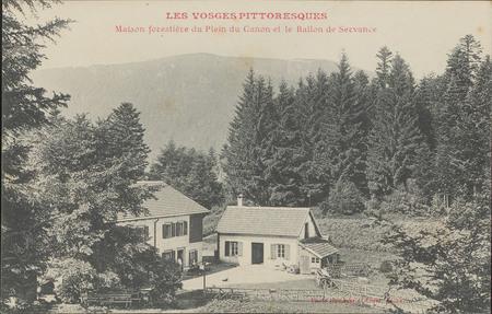 Maison forestière du plein du Canon et le Ballon de Servance