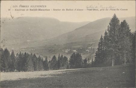 Environs de Saint-Maurice, Sentier du Ballon d'Alsace, Pont Jean, pris du …