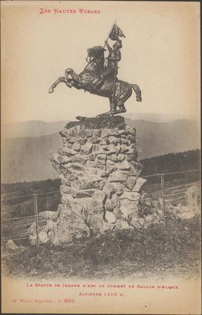 La Statue de Jeanne d'Arc au sommet du Ballon d'Alsace, Altitude 1256 m
