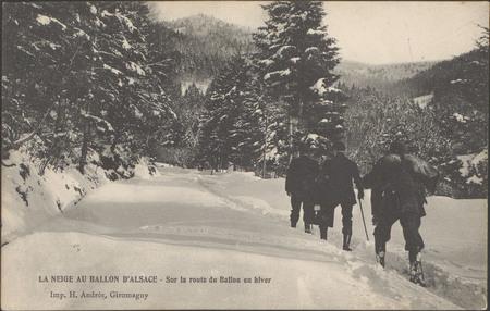 La Neige au Ballon d'Alsace, Sur la route du Ballon en hiver