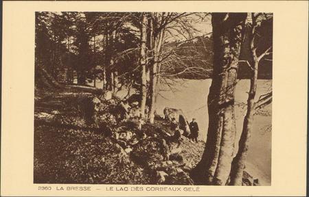 La Bresse, Le Lac des Corbeaux gelé