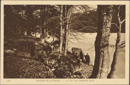 Environs de La Bresse, le Lac des Corbeaux gelé