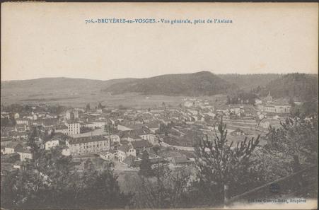 Bruyères-en-Vosges, Vue générale, prise de l'Avison
