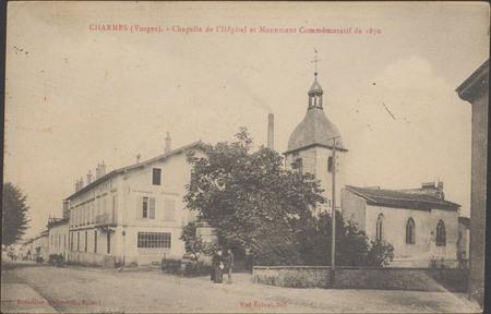 Charmes (Vosges), Chapelle de l'hôpital et Monument commémoratif de 1870