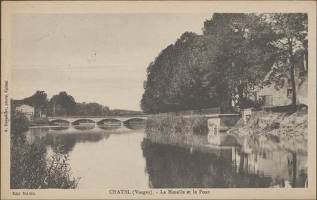 Châtel (Vosges), La Moselle et le Pont