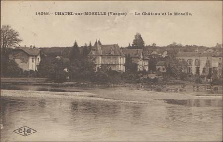 Châtel-sur-Moselle (Vosges), le Château et la Moselle