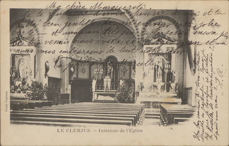 Le Clerjus, Intérieur de l'Église